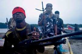 Mend says it is fighting for a fairer distribution of the oil wealth in the Niger Delta [EPA]