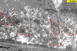 The images appear to show clear signs of air raids in the 'no-fire zone' near Mullaitivu [Unosat]