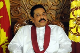 Rajapaksa told parliament on Tuesday that Sri Lanka has been 'liberated from terrorism' [AFP]