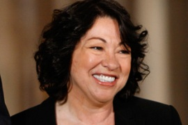Sotomayor has described the courts as'the last refuge of the oppressed' [AP]
