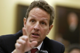 "Geithner said the start of the repayments were an ""encouraging sign"" for the economy [Reuters]"
