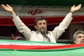 Ahmadinejad is due to be sworn in as president again before parliament on Wednesday [AFP]
