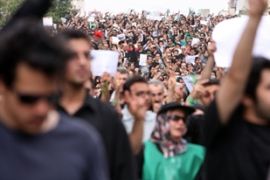 Tehran has witnessed huge rallies by rival groups in recent days [AFP]