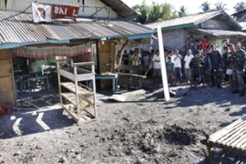 The blast ripped through a market in Datu Saudi Ampatuan township, wounding 15 people [AFP]
