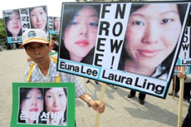 Laura Ling and Euna Lee worked for Current TV, co-founded by Clinton's vice president Al Gore [AFP]