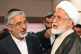 Mousavi, left, and Karroubi have both said the June 12 presidential poll was rigged [File: AFP]