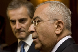 Fayyad, right, said the Palestinians needed to change their approach after years of talks [AFP]