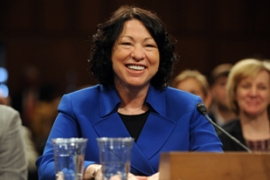 Sotomayor faced claims from republicans that ideology had influenced her decisions [EPA]