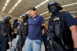 Federal agents arrested Medina, a suspected chief in the La Familia cartel, on Saturday [AFP]