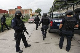 Mexico has sent in police reinforcements to cities most affected by drug gang violence [Reuters]