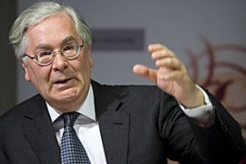 Mervyn King recently said the government's borrowing levels were 'extraordinary' [EPA]