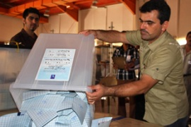 After the vote, the ballots will be collected in Irbil and flown to Baghdad for counting [AFP]