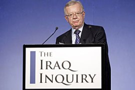 Chilcot said 'the committee will not shy away from making criticism' [AFP]