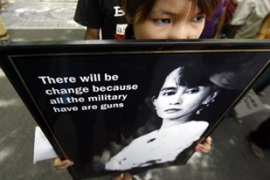 Aung San Suu Kyi has been held in jail or under house arrest for 14 of the past 20 years [Reuters]