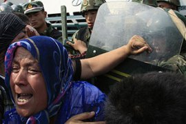 About 200 people were killed in riots involving ethnic Uighurs and Han Chinese in July [Reuters]