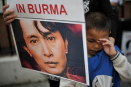 The US continues to demand the release of opposition leader Aung San Suu Kyi [AFP]