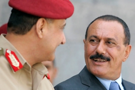 Yemeni President Saleh, right, has urged rebels to accept ceasefire conditions [Reuters]