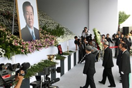 The N Koreans came to Seoul to pay their respects to the late former president Kim Dae-jung [EPA]