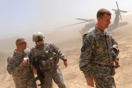 General Stanley McChrystal (R) said the overall effort in Afghanistan is 'deteriorating' [AFP]