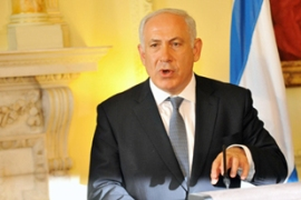 Netanyahu also held talks on Iran's nuclear programme in London [AFP]