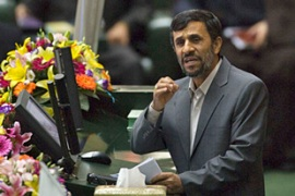 Ahmadinejad is to address a Quds Day rally, sparking fears of anti-government protests [REUTERS]
