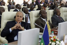 Gaddafi told the summit that all Israeli embassies across Africa should be closed [AFP]