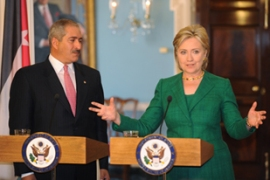 Clinton called on Israel to respect its obligations as the US continues its mediation efforts [EPA]