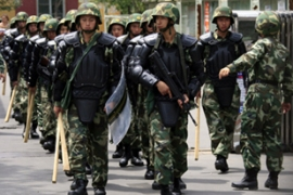 A heavy military presence remains in Urumqi after the deadly riots [Reuters]