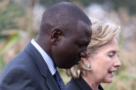 Kenya is the first stop on Clinton's seven-nationtour of Africa[EPA]