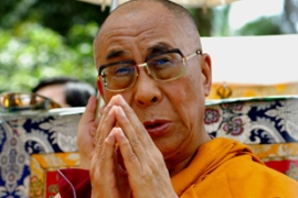 "The Dalai Lama insists his visit is purely a ""humanitarian mission"" [AFP]"