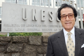 Hosni won the most recent of the Unesco polls, taking 25 out of 57 votes [AFP]