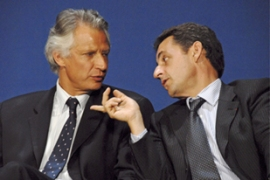 De Villepin, left, and Sarkozy engaged in a fierce battle to land the French presidency [EPA]