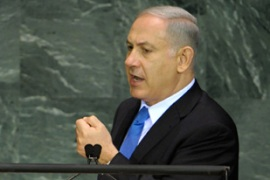 Netanyahu has lashed out against the Goldstone report, which he called 'distorted' [File: EPA]