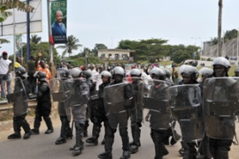 Some unrest is expected in the capital Libreville given the dispute over the election result [AFP]