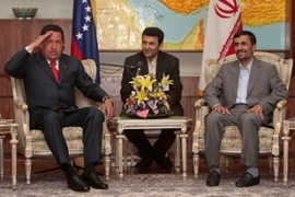 Chavez is a regular visitor to Iran, a key ally [EPA]