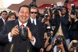 At one point Chavez took a photographer's camera to snap a picture himself [Reuters]