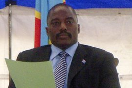 Joseph Kabila, the president of the DRC, wants a full withdrawal by August 2011 [AFP]