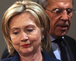 Clinton said she and Lavrov had held 'productive and comprehensive discussions' [EPA]