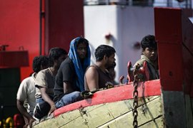 Captain Bram was found among a boatload of Sri Lankan asylum seekers in Indonesia [GALLO/GETTY]