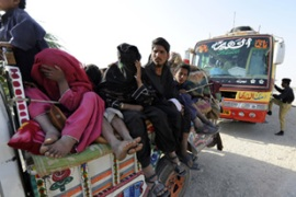 The offensive in South Waziristan has forced thousands of residents to flee [AFP]