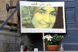 Al-Sherbini was stabbed at least 16 times in a Dresden court in July [AFP]