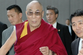 The Dalai Lama plans to spend a week in Japan before making the trip to India's northeastern region [AFP]