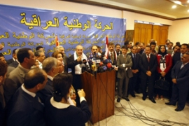 The new Iraqi National Movement wants to end sectarianism in Iraq [AFP]
