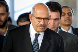 ElBaradei will not visit the Qom facility, but hopes to have inspectors there within two weeks [Reuters]