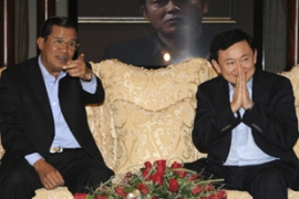 Hun Sen, left, appointed Thaksin as an economic adviser to the impoverished country [Reuters]