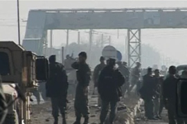 The blast took place on Jalalabad road, leading east out of Kabul, where a number of bases are present