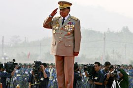 Military ruler Than Shwe has signed five laws governing the polls expected this year [EPA]