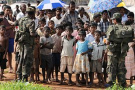 Some 288,000 people were displaced when the conflict with separatist Tamil Tigers ended in mid-May [AFP]