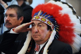 More than 550 leaders of native American communities attended the conference [EPA]