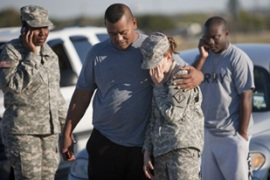 Thirteen people were killed in the gun attack at Fort Hood, the world's largest military base [AFP]